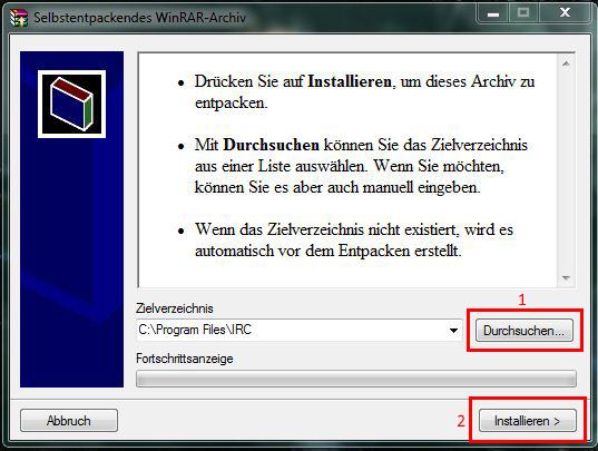 WinRAR-Archiv entpacken