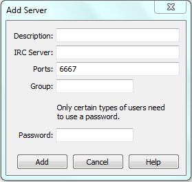 mIRC Server hinzufügen