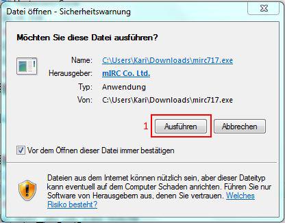 Datei öffnen - Sicherheitswarnung